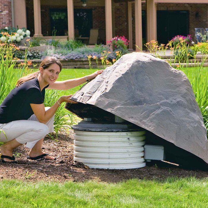 Hide your satellite dish with this landscaping-friendly artificial rock. - Hide Your Satellite Dish With This Landscaping-friendly Artificial