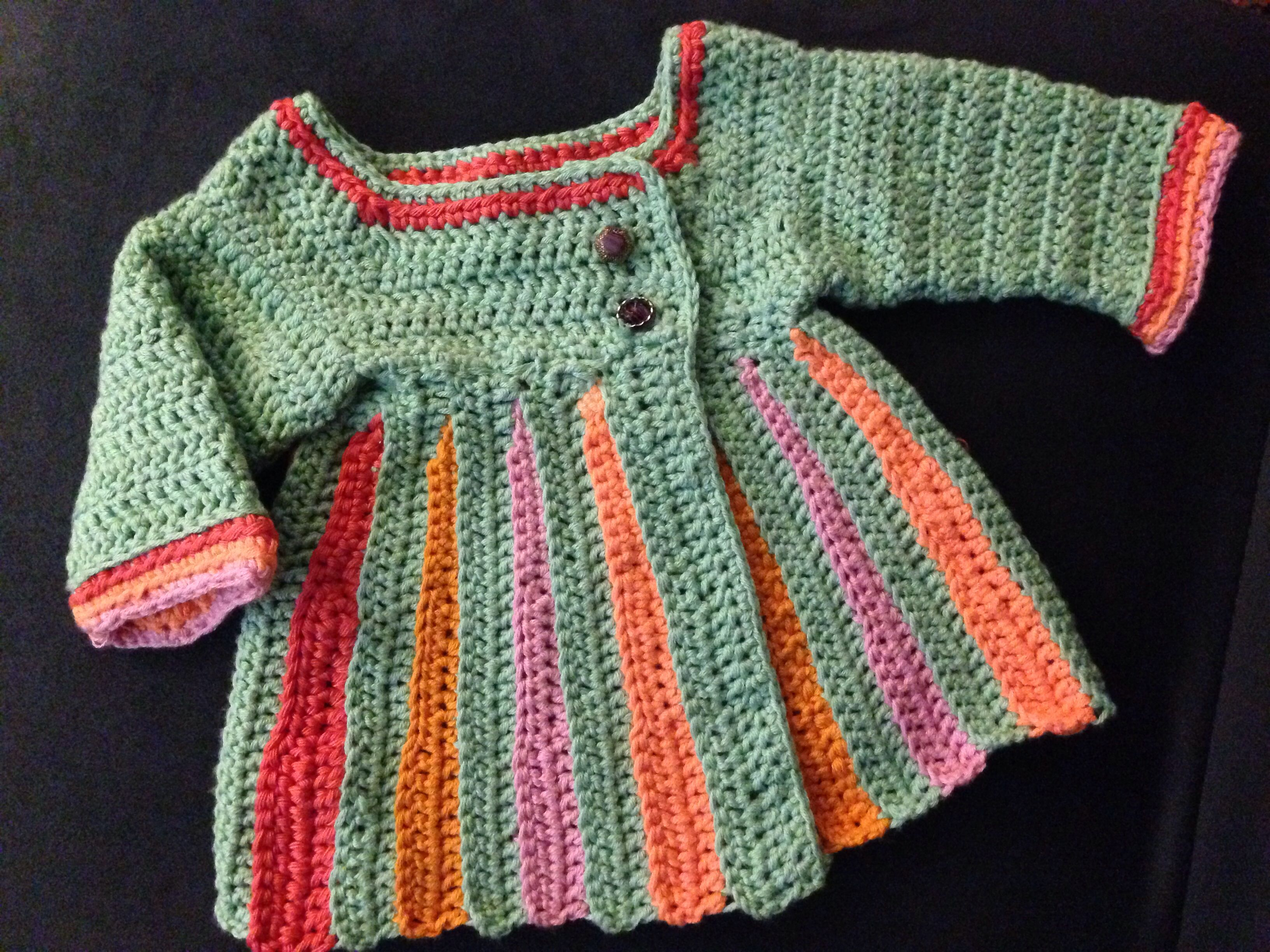 Crochet baby sweater / free pattern at http://www.mooglyblog.com ...