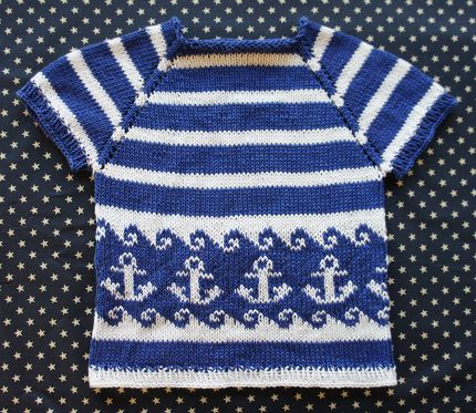 Free Pattern: Anchors Away Top for Kids | Knitting patterns ...