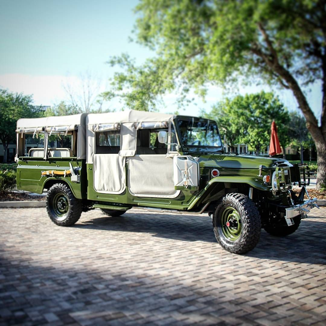Our latest custom full frame off restoration 4 door safari crew cab built by the vintage cruiser co
