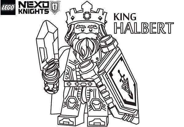 King Halbert Nexo Knights Ausmalbilder 01 Aaa Coloring Pages