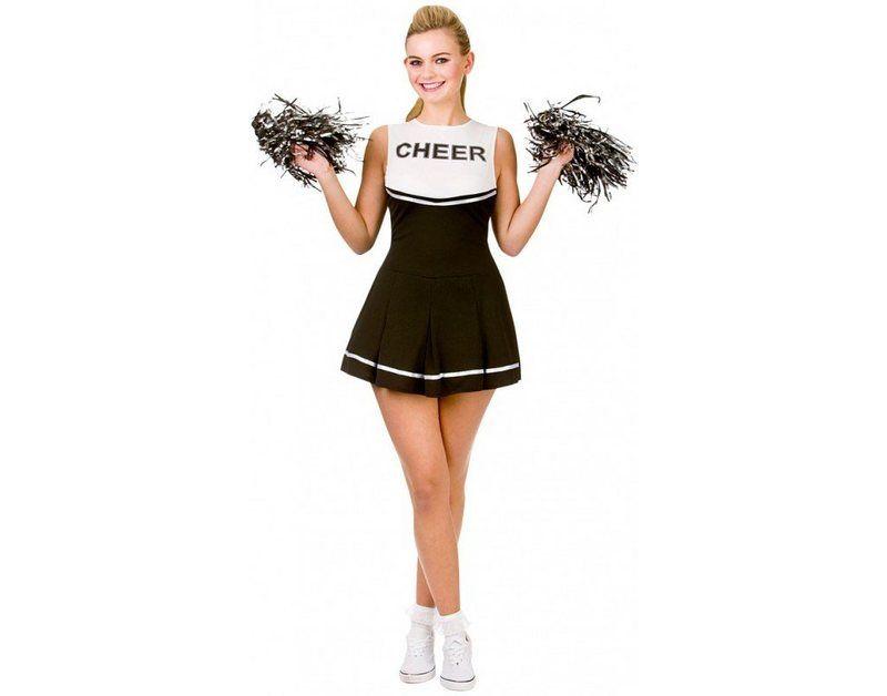 Rachel High School Cheerleader Kostum Schwarz In 2020 Cheerleader Kostum Fasching Kostume Damen Kostume Damen