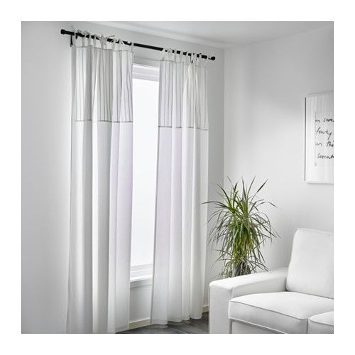 Ikea French Doors: PÄRLBLAD Curtains, 1 Pair - IKEA