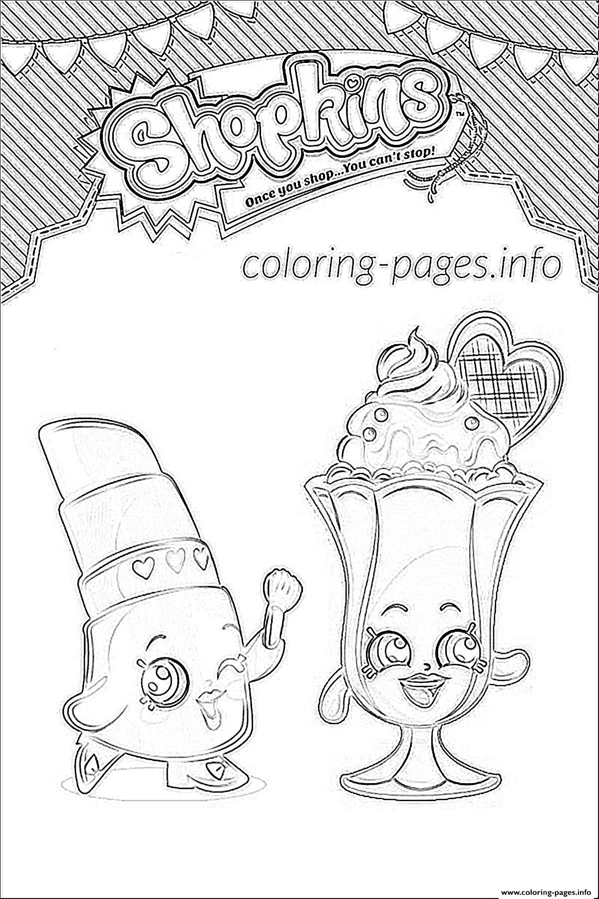 Print Shopkins Suzie Sundae Coloring Pages Shopkins Coloring