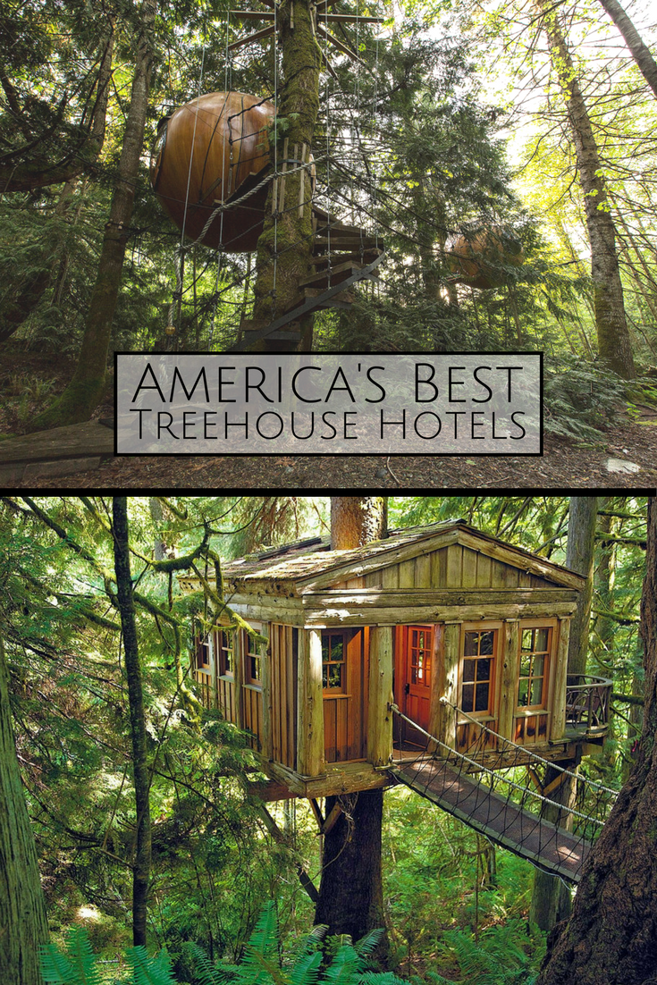 Spend the night in a treehouse tucked away in the