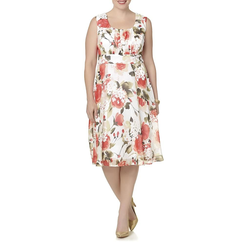 Connected apparel womens plus fit flare dress floral sears connected apparel womens plus fit flare dress floral sears ombrellifo Choice Image