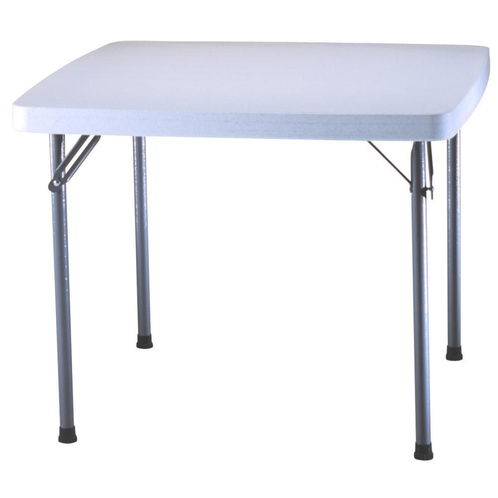 79 Lifetime 37 In X 37 In White Granite Square Card Table 22315 The Home Depot Folding Table Home Square Tables