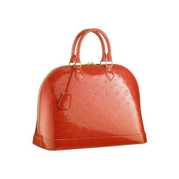 71d641790f13 Louis Vuitton Monogram Vernis Alma MM Orange Sunset ❤ liked on Polyvore