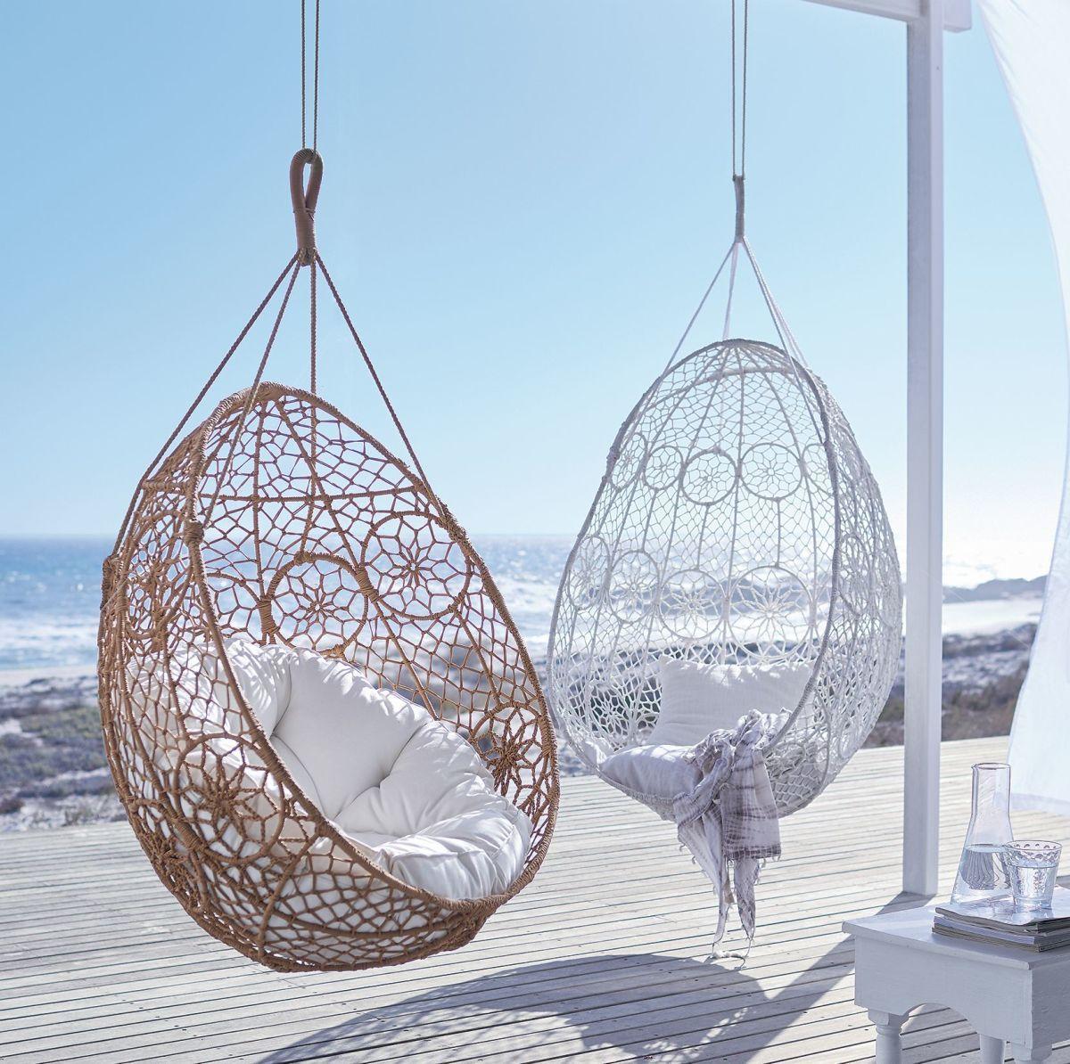 Hanging Wicker Egg Chair Canada Rocking Arm Cushions Boho Hängesessel Outdoorgeeignet Metall