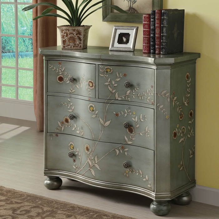 Hand Painted Storage Cabinet By Coaster Furniture