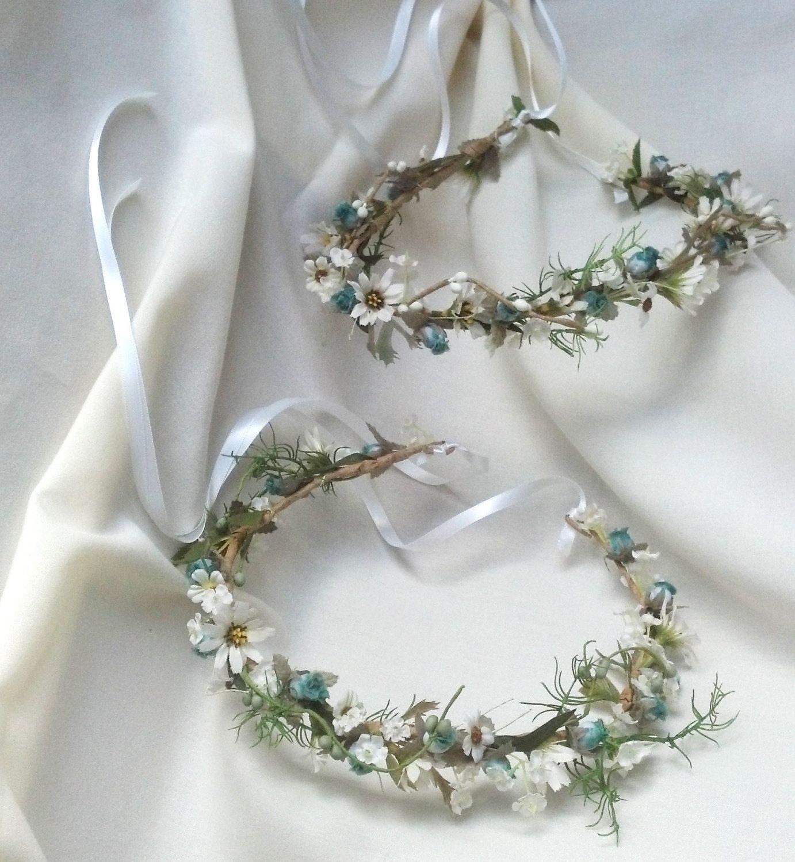 Bridal hair accessories Wedding fairy Flower Crown Hippie Boho ...