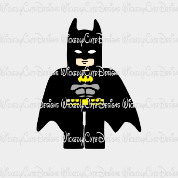 Lego Batman with Cape SVG, DXF, EPS, PNG Digital File ...