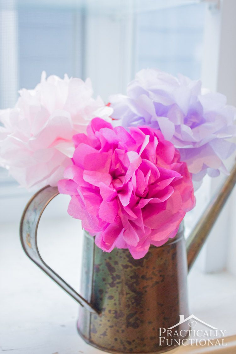 Diy Tissue Paper Flowers Tissue Paper Flowers Tissue Paper And
