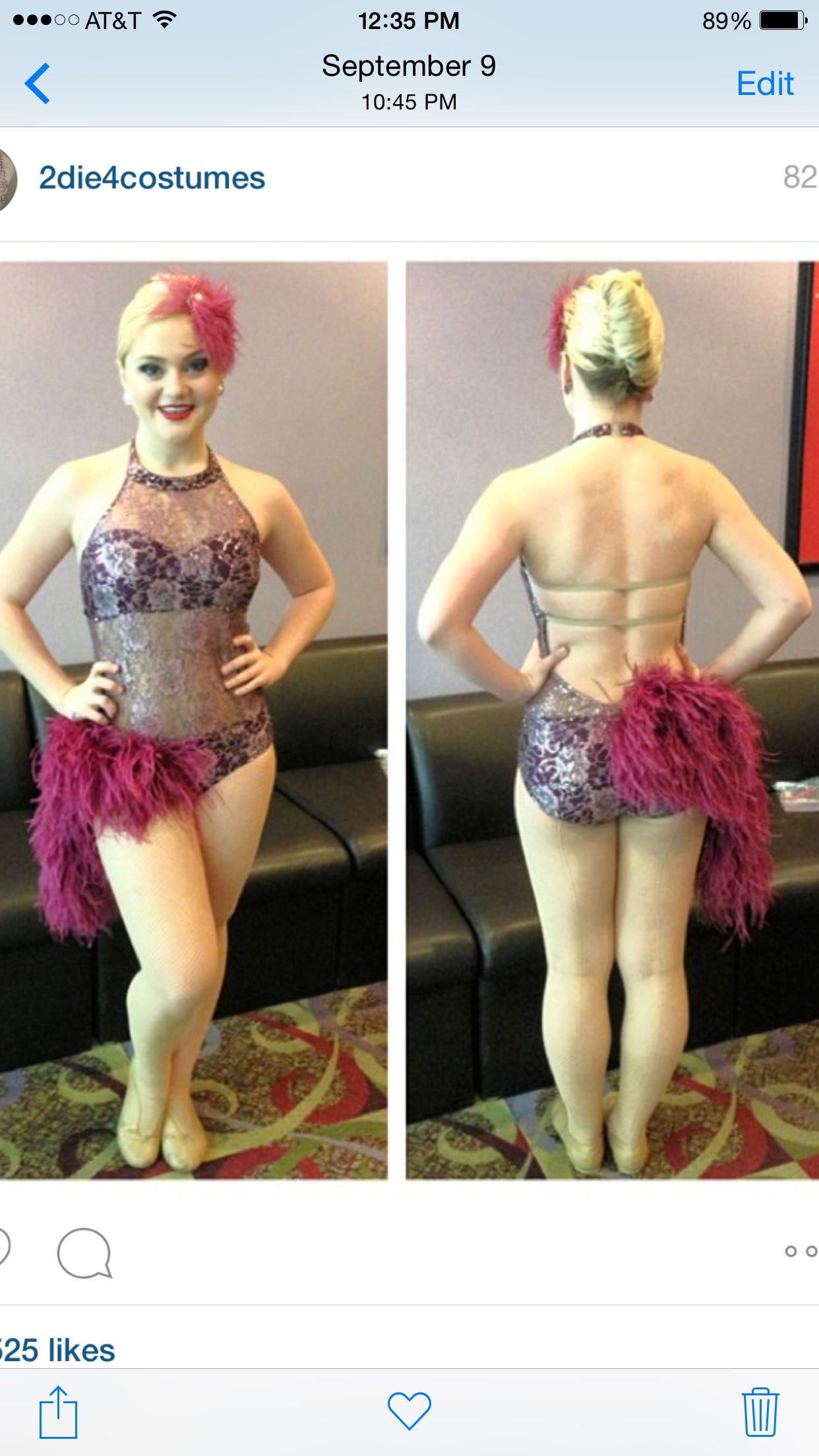 Breanna's solo feathers