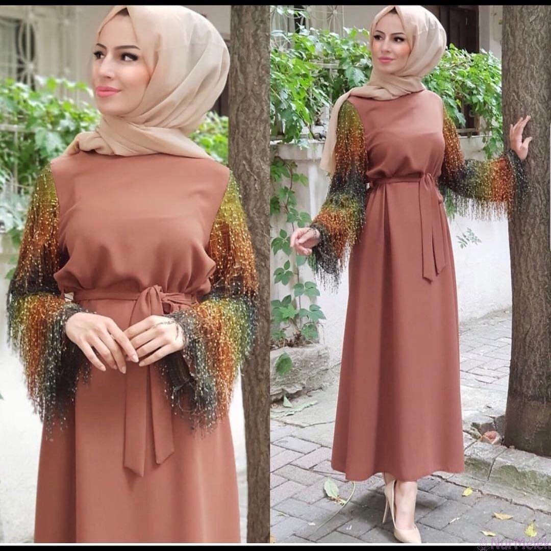 2019 A Damga Vuracak Tesettur Mezuniyet Elbiseleri In 2020 Homecoming Dresses Casual Wedding Dress Soiree Dress