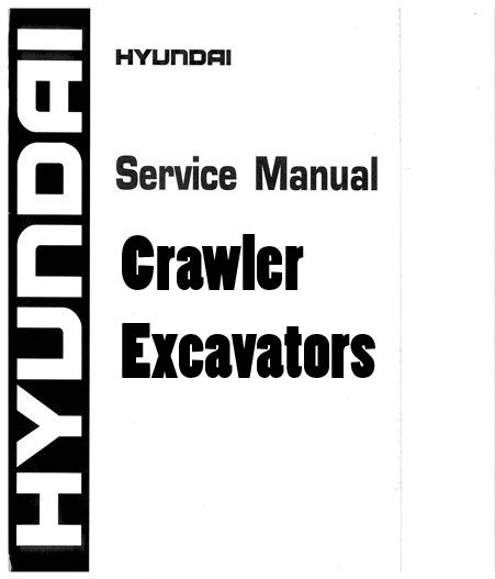 Hyundai RB140LC-9S Robex Crawler Excavators Workshop