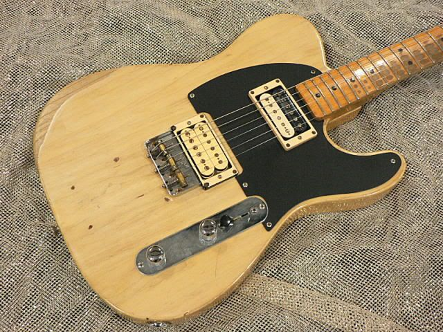 Jeff Beck\'s Tele-Gib, built by Seymour Duncan in 1974. The pickups ...