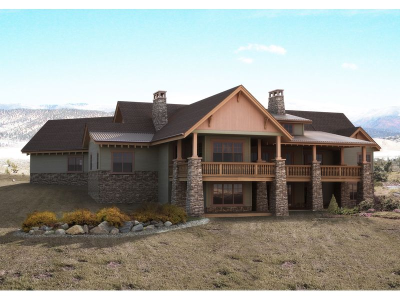 Dallin mountain home ranch house plans ranch and house for Mountain house plans rear view