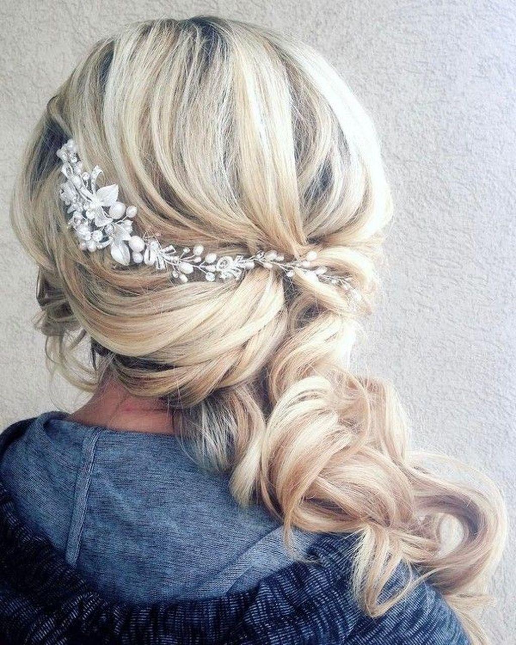 39 Elegant Wedding Hairstyles Ideas For Long Hair Brides   Elegant ...