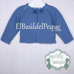 MARTA Y PAULA Rebeca Bebé Niño Pompones Azul