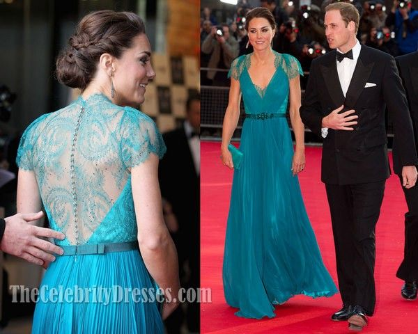Kate Middleton Evening Prom Dress London Olympic gala Formal Gown ...