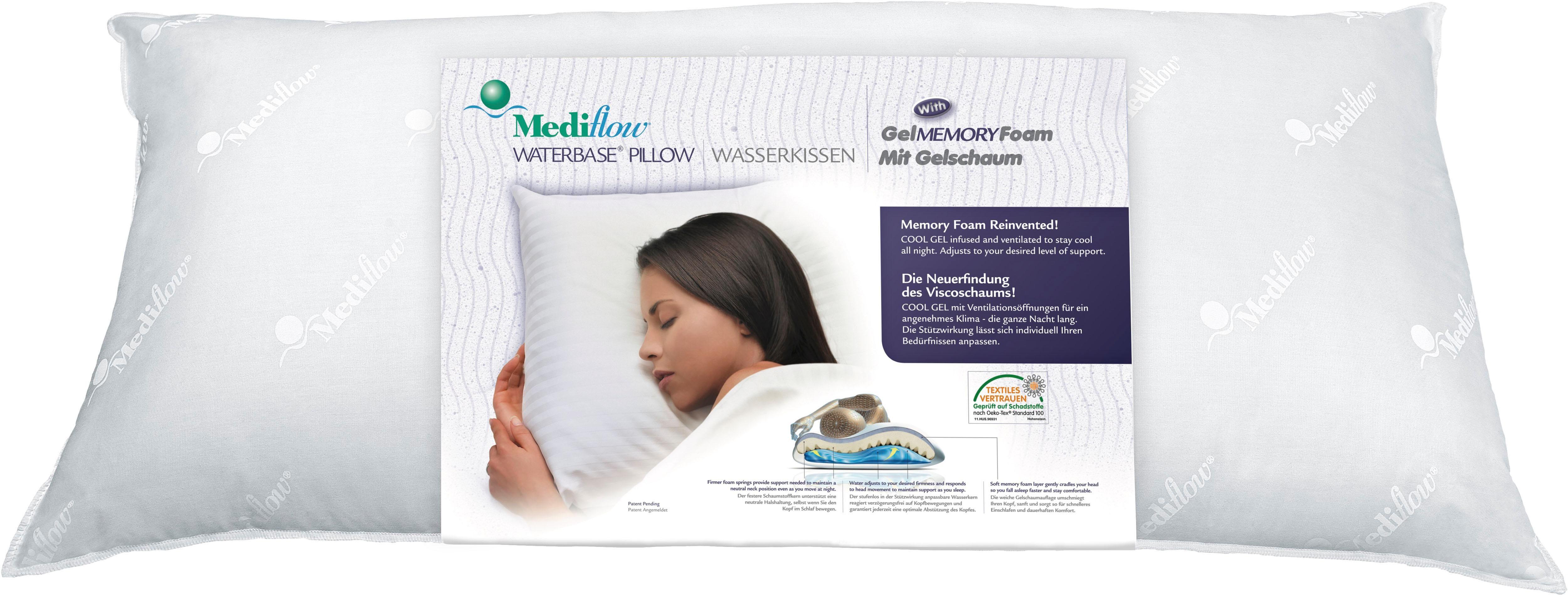Wasserkissen Mediflow Original Visco Gelschaum Wasserkissen 5007 50x70cm Mediflow Bezug 100 Baumwolle Wasserkissen Kissen Schaum