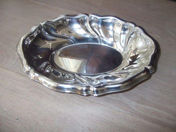 Online veilinghuis Catawiki: Zilveren schaal met gelobde rand, Wilhelm.t. Binder, Duitsland