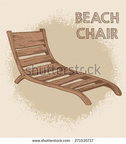 Doodle Beach Chair Vector Illustration Or Background Beach Chairs Restoration Hardware Dining Chairs Chairs For Sale