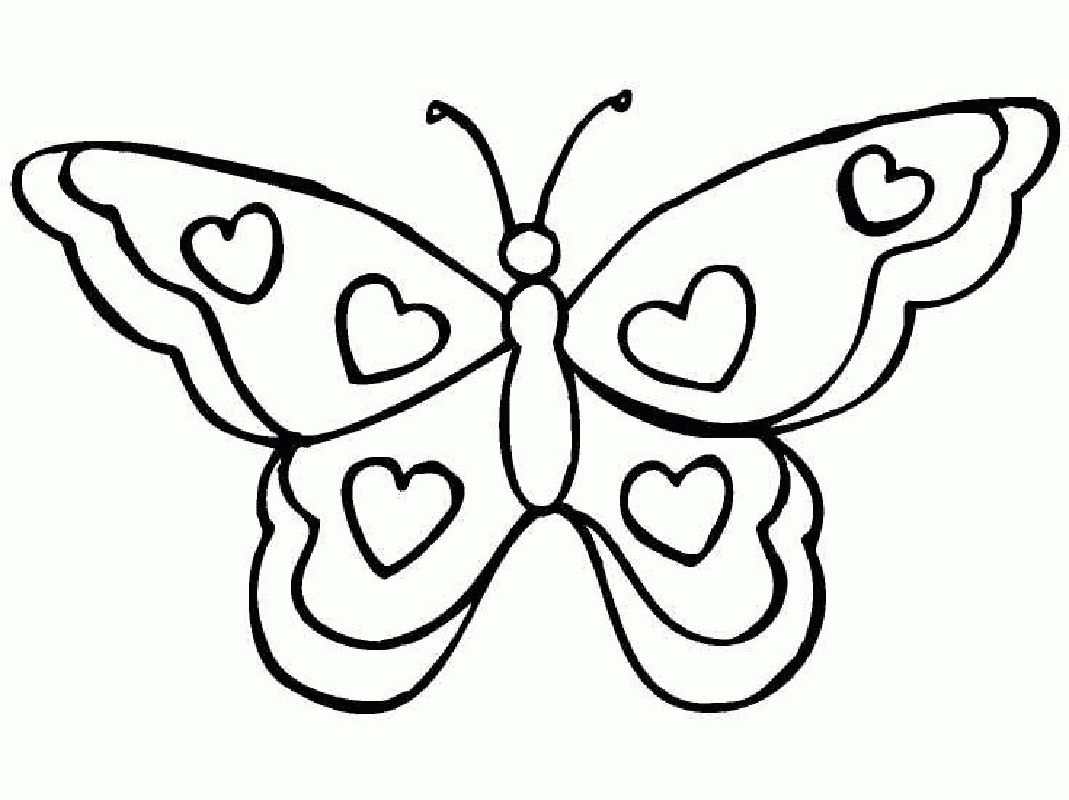 Cartoon Butterfly Coloring Pages 9 G Easy Butterfly Coloring Pages For Preschoolers Preschool Butterfly Coloring Page Butterfly Printable Heart Coloring Pages