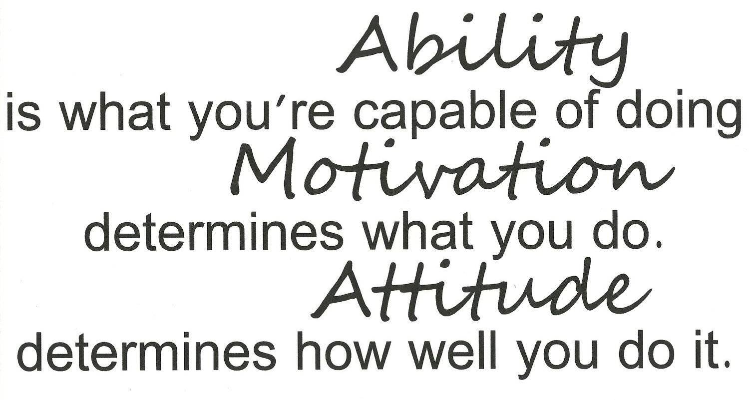 1 Football Poster Ability Motivation Attitude Quote Print Inspirational Picture