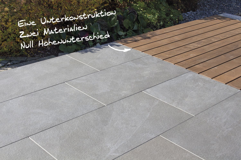 Der Trend Im Terrassen Und Gartenbau Holz Terrassendielen Und Keramische Terrassenplatten Miteinander Komb Terrassendielen Holz Terrassendielen Terrasse Holz