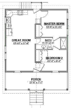 Complete House Plans 648 S F Mother In Law Cottage Ebay Cottage Floor Plans House Floor Plans Mother In Law Cottage