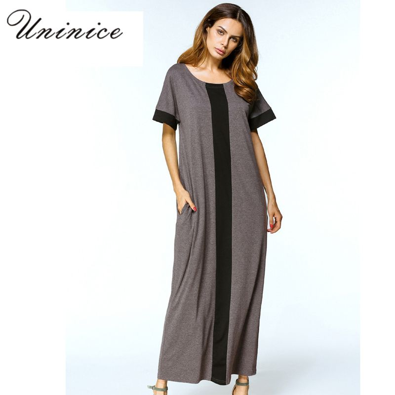 Casual Muslim Maxi Dress Plus Size T-Shirt Dresses Abaya Loose Style  Ramadan Arabic Long Robes Turkish Islamic Prayer Clothing  Abaya style 3a701229b