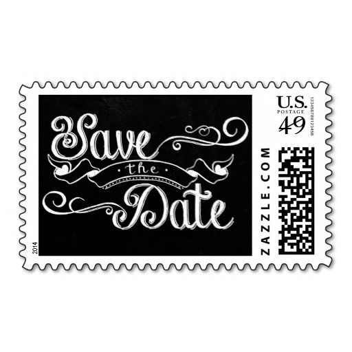 Chalkboard Save the Date Postage