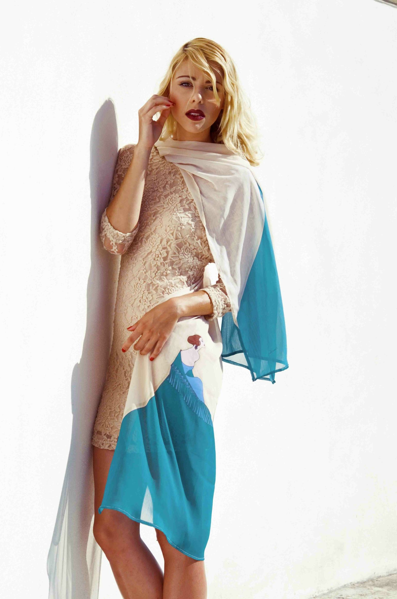 Green fadista shawl | lenço fadista verde disponível por encomenda em info@lipscani.pt ou www.lipscani.pt