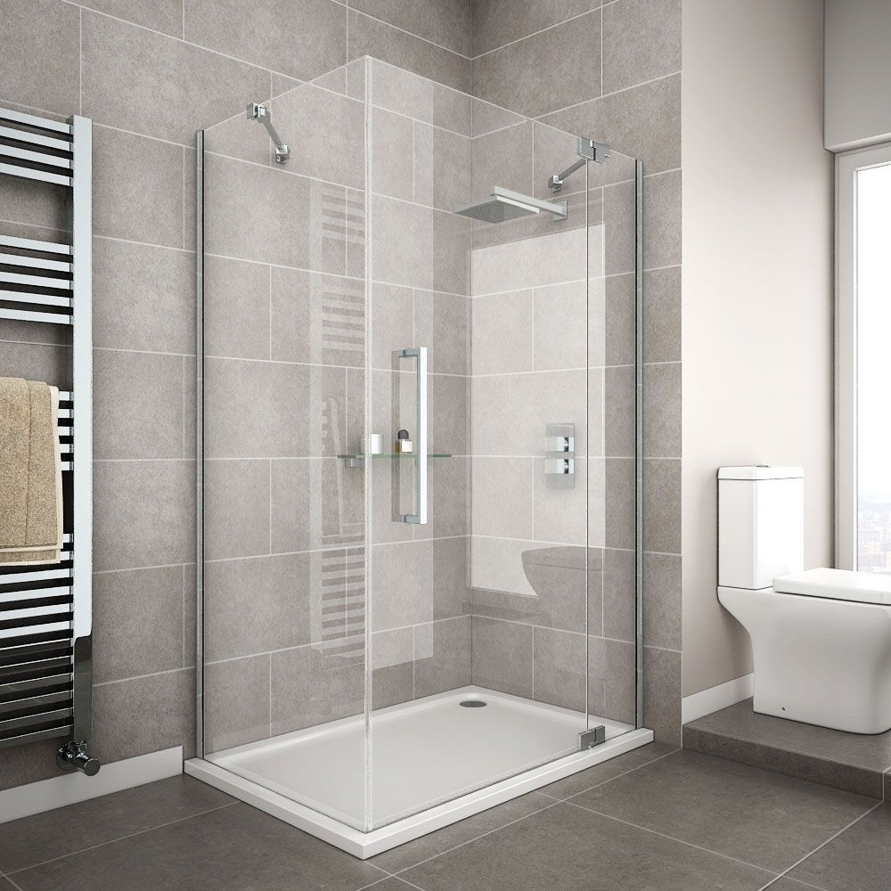 Apollo Frameless RH Hinged Door Rectangular Enclosure | bathroom ...