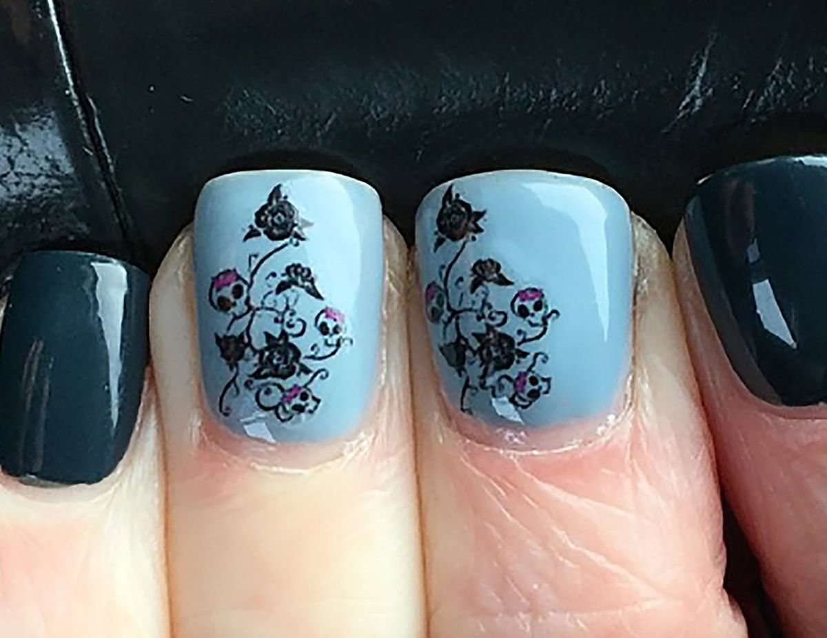 Skull Rose Bush Nail Art Decals Sugar Skull Nail Art Decals