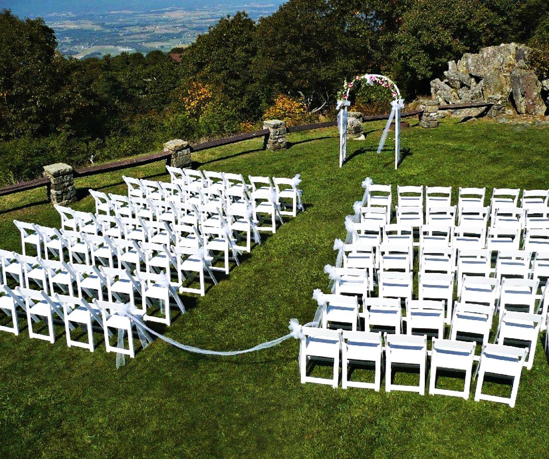 Pinnacles outdoor wedding setup at Skyland in Shenandoah ...