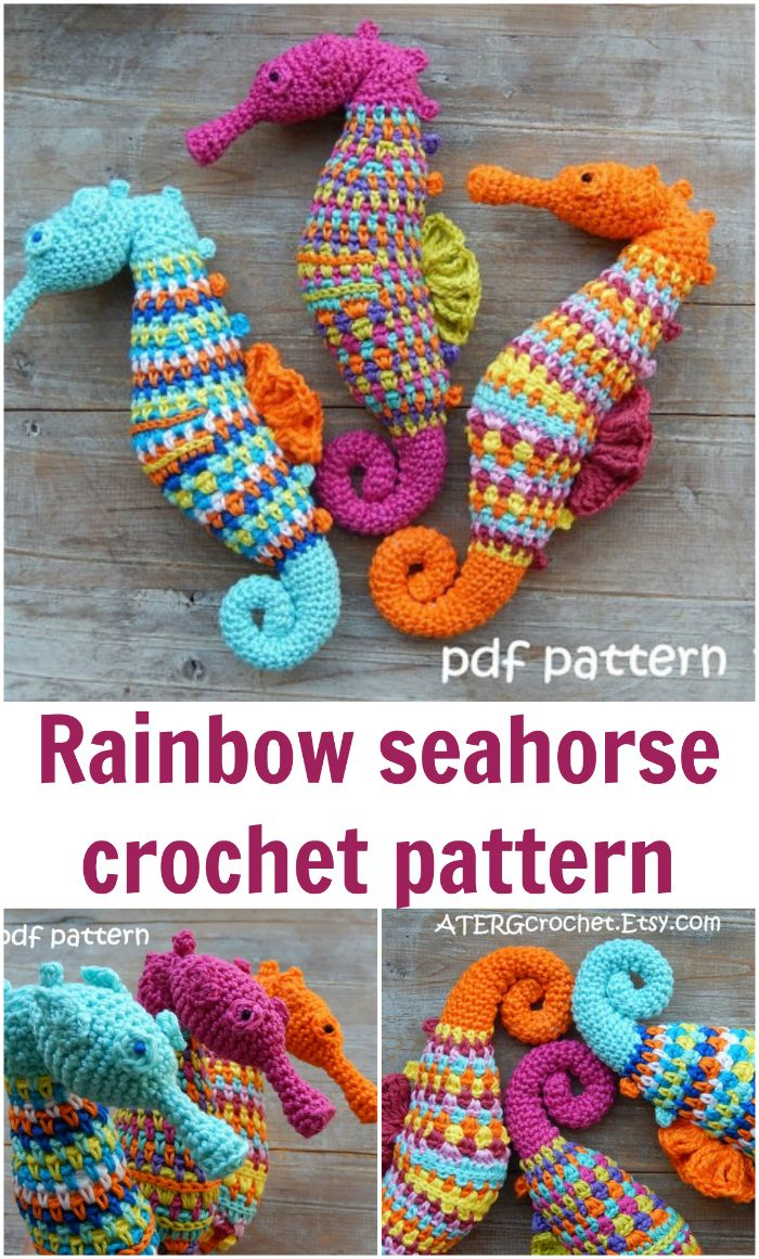 Very realistic seahorse crochet pattern amigurumi seahorse very realistic seahorse crochet pattern amigurumi seahorse crochet pattern rainbow ocean sea bankloansurffo Image collections