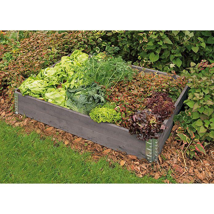 Hochbeetumrandung Grau 120x80x20 Cm Gardol Garten Bepflanzung Gartenbeet
