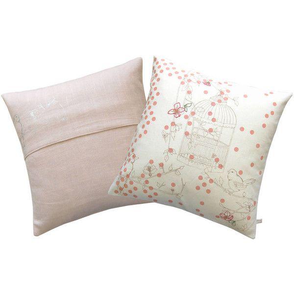 Laura Felicity Design Dotty Bird Luxury Throw Pillow. ($88) ❤ liked on Polyvore featuring home, outdoors, outdoor decor, outdoor garden decor, garden decor and bird garden decor