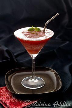 Margarita glacée aux fraises