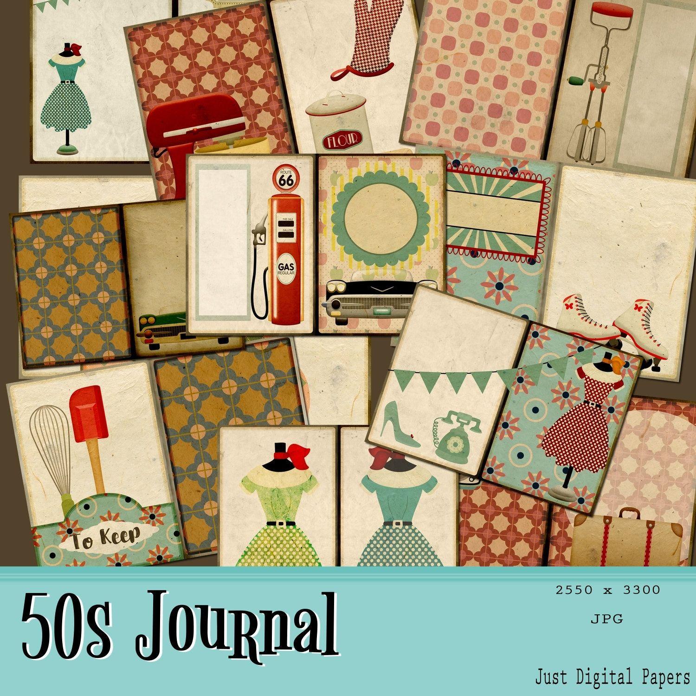 20x Vintage Paper DIY Scrapbooking Sheet Gifts Packing Card Making Journal Decor