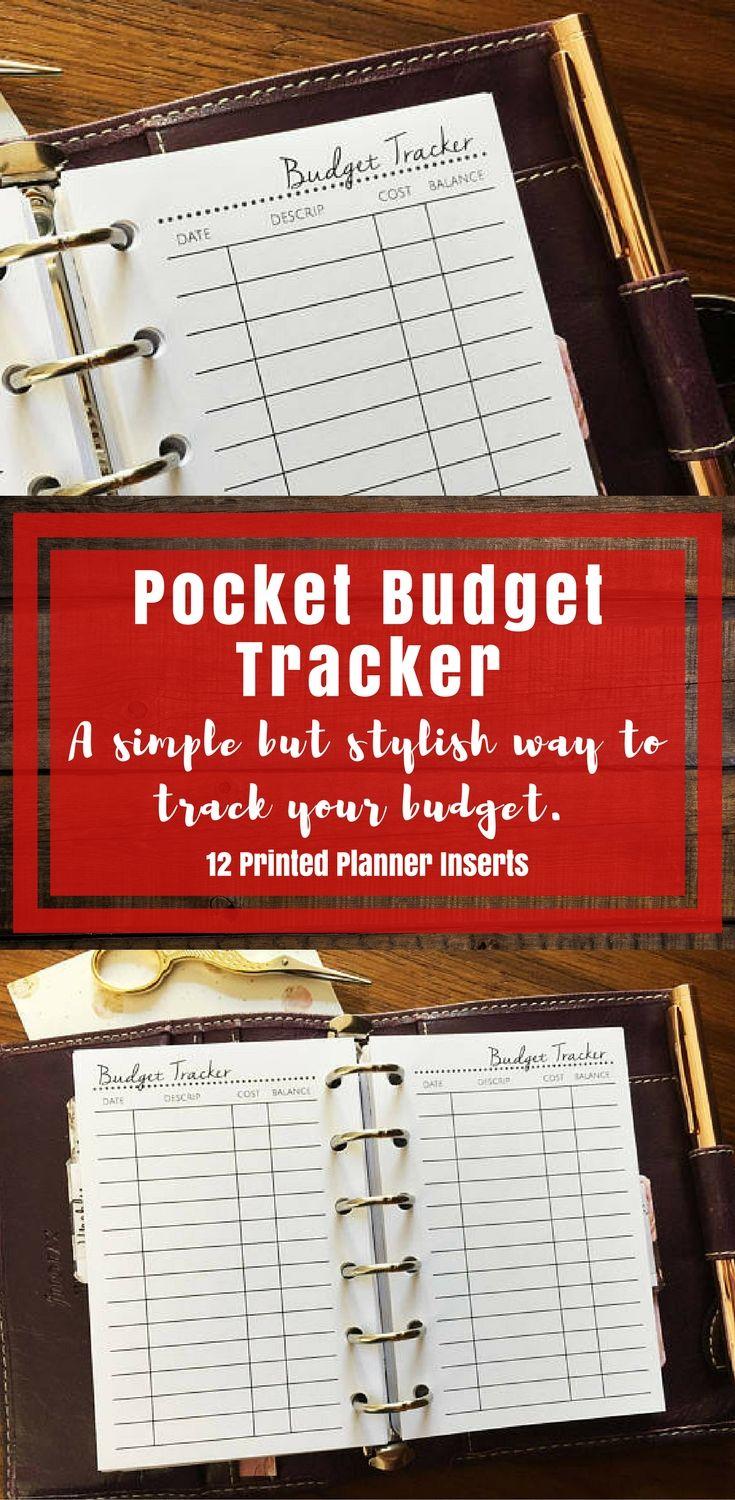 i love how professional these look pocket budget tracker printed
