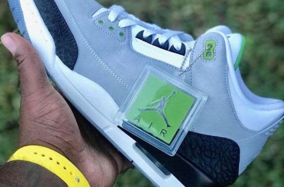 meet 7f0da 9b59c First Look At The Air Jordan 3 Chlorophyll The Air Jordan 3 will be  releasing in