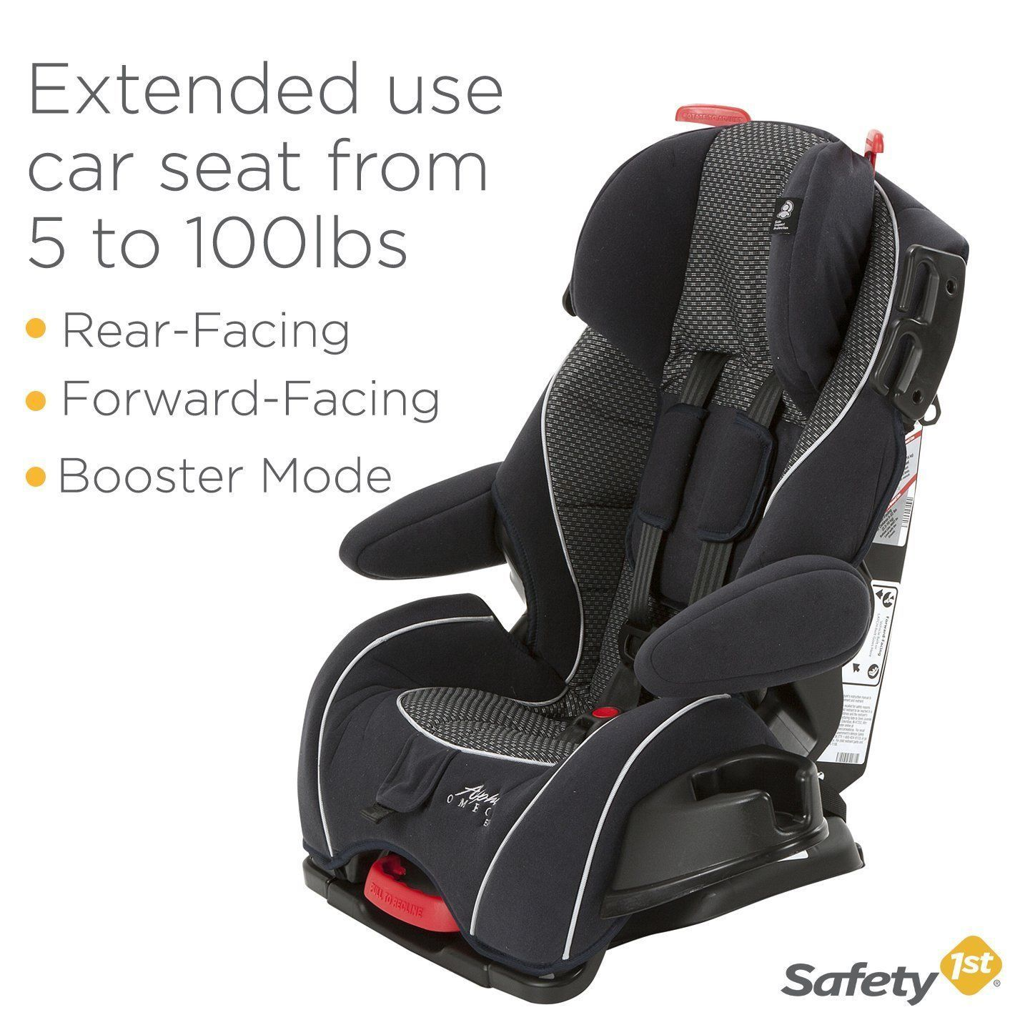 Safety 1st Alpha Omega Elite Convertible Car Seat, FREE