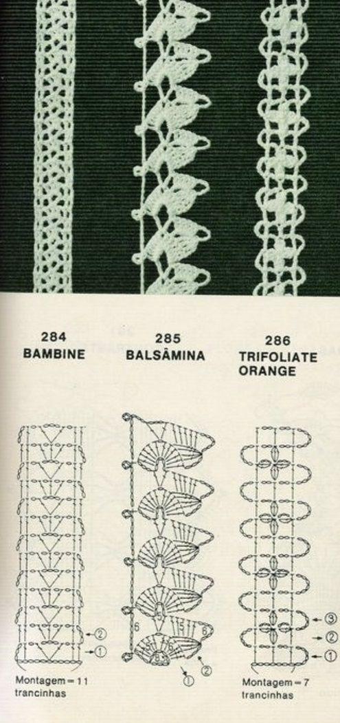 схемы тесьмы крючком крючок вязаные крючком края вязание