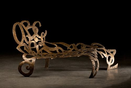 Sarah Peters  The Botanical Fainting Couch, 2011  bronze, 48 in. tall