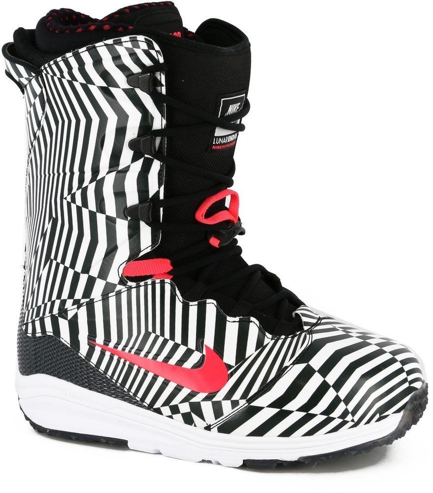 najlepszy wybór aliexpress moda New Nike SB Men's Lunarendor QS Snowboard Boots Black White ...
