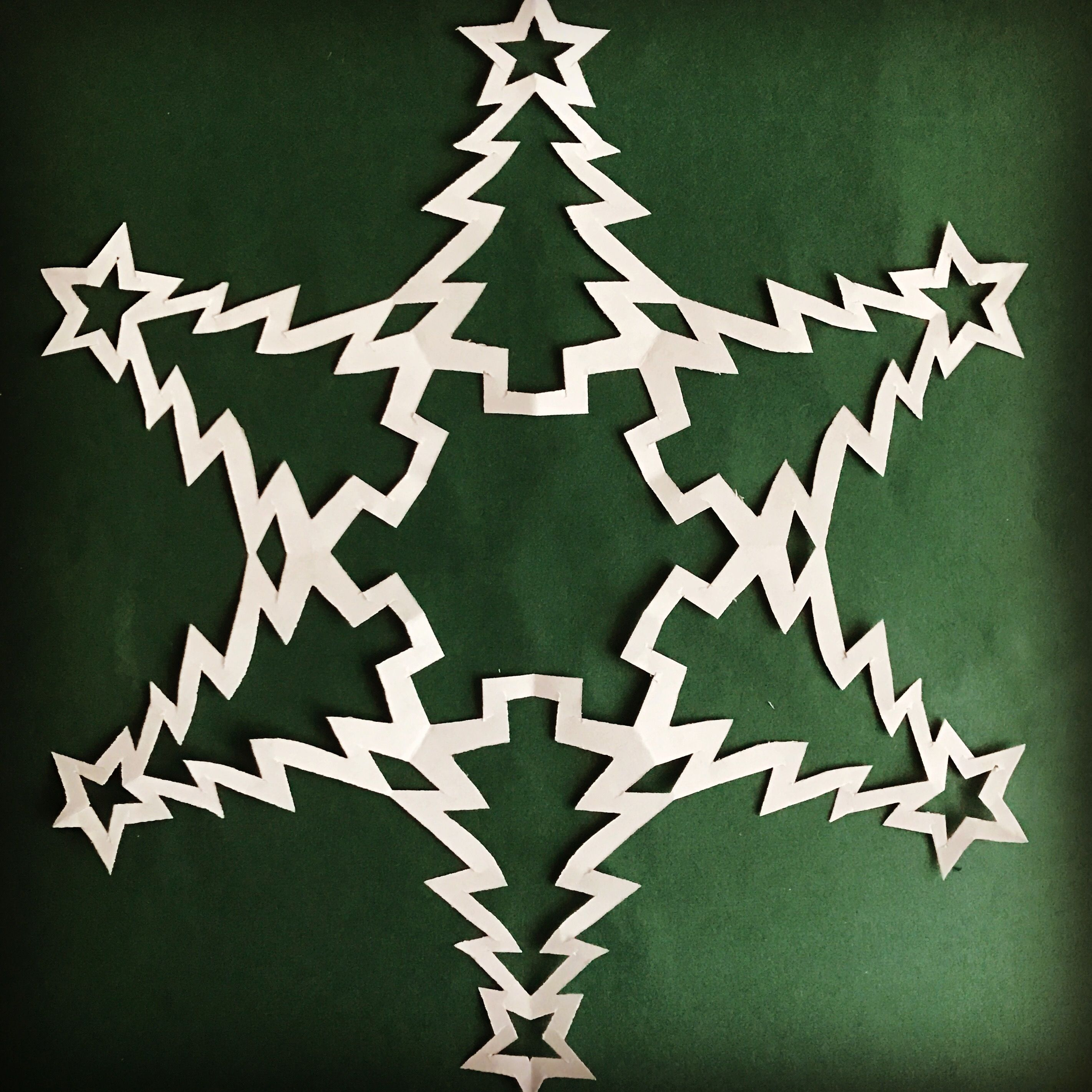 Snowflake Patterns Winter Craft Paper Snowflakes Cut Out